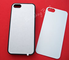 5 Piece Wholesale IPHONE 5 / 5s Sublimation RUBBER SILICONE Black Case Plate