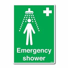 Emergency Shower Sign A4 210x297mm First Aid Safety Sticker self-adhesive vinyl