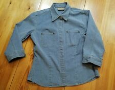 Best stretch chambray shirt Liz Claiborne Lizwear small s excellent