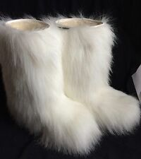 Oscar Sport Apres Ski Boots Women's Size 8 1/2 USA 39 Eur White Warm Fur