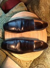 Silvano Sassetti Penny Loafer Brown Leather Mens Shoes Size 10 1/2