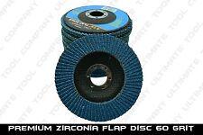 """10pc Premium Zirconia Flap Disc 4-1/2"""" x7/8"""" 60 Grit Grinding Wheel Metal Steel"""