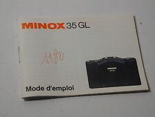 notice MINOX 35GL en français photo photographie 24X36