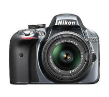 Nikon D D3300 24.2MP Digital SLR Camera - Black (Kit w/ AF-S DX 18-55mm VR  Lens