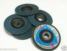 "10 x 125mm/5"" steel/stainless steel Flap Discs Wheels  40 Grits Angle Grinder"