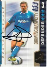 MATTHEW UPSON HAND SIGNED BIRMINGHAM CITY 04/05 SHOOT OUT CARD 2004/2005.