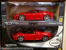 LOT OF 2 FERRARI F430 COUPE & SPIDER RED 1:18 by HOT WHEELS BRAND NEW IN BOXES