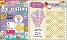 DIE CUTTING ESSENTIALS MAGAZINE ISSUE 13 FREE ICE CREAM DIE STAMP & FOLDER