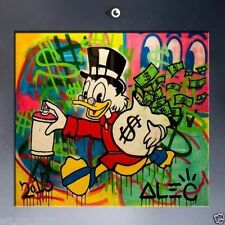 Alec monopoly 4 HUGE OIL PAINTING MODERN ABSTRACT WALL DECOR ART CANVAS(Unframed