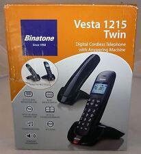 Binatone Vesta 1215 Twin Duo Digital Cordless Phone Telephone Answering Machine