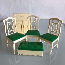 La Casa Muñeca Sindy conjunto de sillas de comedor Aparador De Cocina Vintage Pedigree 1970s