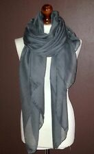 OVERSIZE LADIES SOFT PLAIN FASHION SCARF GREY HIJAB SARONG* BRAND NEW* VISCOSE
