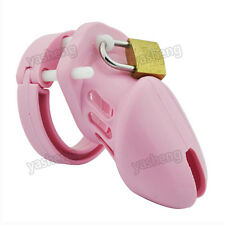 Soft Silicone Male Chastity Device Belt CB Bondage  Small Short Cage Pink