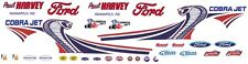 Paul Harvey FORD 2013 MUSTANG COBRA JET NHRA 1/64th HO Scale Slot Car Decals