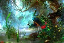 HD Print On Canvas Peacock Oil Painting Picture Modern Art Home Decor PD001