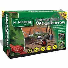 65 Litre Galvanised Metal Garden Wheelbarrow Wheel Barrow