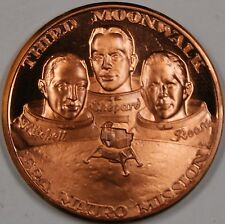 Apollo 14 Beautiful Bronze Proof Commemorative Medal FRA Mauro Mission