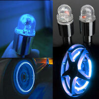2 x Blue LED Neon Car Bike Wheel Tire Tyre Valve Dust Cap Spoke Lights Cool TBUK