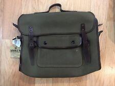 Double RL RRL Olive Canvas Leather Trim Shoulder Briefcase NWT Ralph Lauren