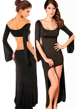 SALE: Long Black Party Dress with Sexy Cut Outs - one size
