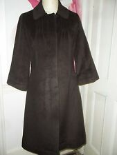 RONIT ZILKHA BROWN WOOL/ ANGORA  COAT UK 12 NEW