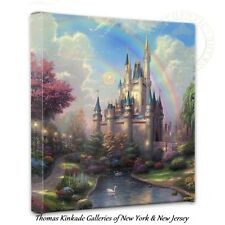 Thomas Kinkade A New Day at the Cinderella Castle 14x14 Wrapped Canvas