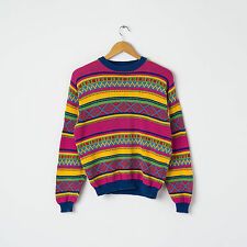 Vtg United Colors Of Benetton Striped Jumper Size XL Oversized Crew Neck Top