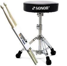 Sonor dt 2000 drum taburete dt2000 batería taburete + KEEPDRUM Drumsticks 1 pares