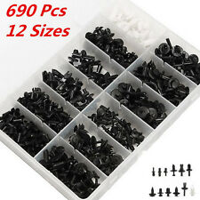 690 pcs Car Automotive Push Pin Rivet Trim Clip Panel Body Interior Assortment