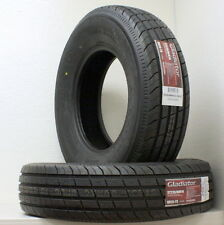 Two Gladiator ST235/80R16 Radial Load Range F 12PLY Heavy Duty Trailer Tires