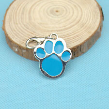 Animal Dog Cat Pet Paw Print Stainless Steel Pendant Necklace Charm Tag BBCA