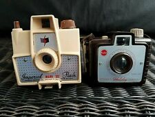 Vintage Imperial Mark XII Vintage Camera Light Tan + Brownie HOLIDAY camera