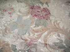 Burlington Damask Floral Rod Pocket Panel Drapes, Pair, Two Panels 40x84