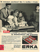 PUBLICITE ADVERTISING 014   1959   ERKA  machine à tricoter