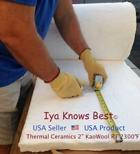 "2"" Ceramic Fiber Insulation Blanket 2300F Kaowool RT 8# Thermal Ceramics 36""x24"""