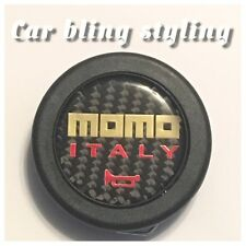 Momo Auto Motive Accessories Carbon Fibre Racing Steering Wheel Horn Button Gold