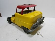 Vintage Structo Semi Truck CAB ONLY Pressed Steel Toy Vehicle Odd Yellow Red