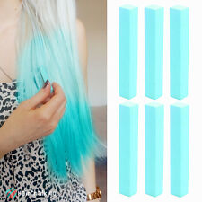 Best Light Teal Hair Dye Set of 6 Chalks | TURQUOISE Color DIY Hair Chalk