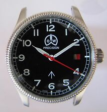 O & W, MILITARY, case 38mm with dial and hands, for ETA 2824, NEW, swiss made