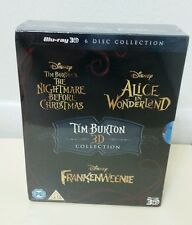 Tim Burton Blu-Ray 3D Collection Nightmare Before Christmas/Frankenweenie/Alice