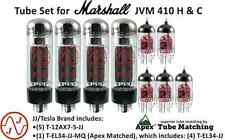 JJ Electronics (TESLA) Tube Set for Marshall JVM 410 H & C guitar amplifiers