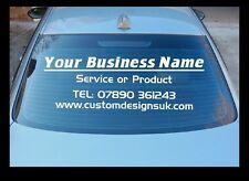 CUSTOM CAR SHOP WINDOW STICKER BUSINESS personalised Company Name Lettering