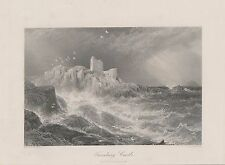 Turnberry Castle Scotland STAHLSTICH von 1875 Ayrshire steel engraving