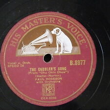 78rpm PAUL ROBESON the cobblers song / the blind ploughman