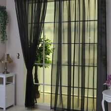 "2 Piezas Tul Transparente Ventana Panel curtains CORTINA 78.8"" x 39.4' BUFANDA"