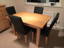 JOHN LEWIS OAK DINING TABLE & 4 CHAIRS