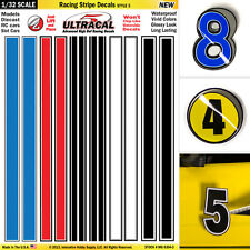 1/32 Slot Car Model Waterslide Decals IMPROVEMENT Racing Stripes #3 SCALEXTRIC