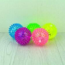 1PC Puppy Dog Cat Pet Hedgehog Rubber Ball Bell Sound Ball Fun Play Toy