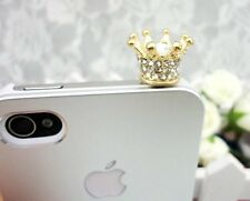 Gold Crown Dust Plug Phone Plug Cover Charm For Phone 3.5mm Earphone Jack