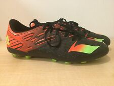 Adidas Messi 15.4 FG Football Boots Boys/Girls Black And Orange Size UK 5